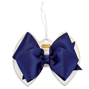 Ink Blue Bow Clip : Mud Pie Baby