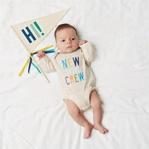 \New To The Crew Crawler & Pennant - Blue : Mud Pie Baby