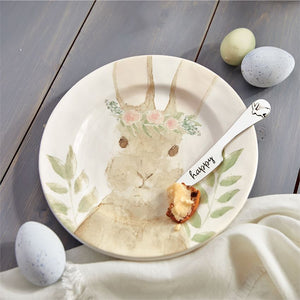 Watercolor Bunny Cheese Set : Mud Pie Home