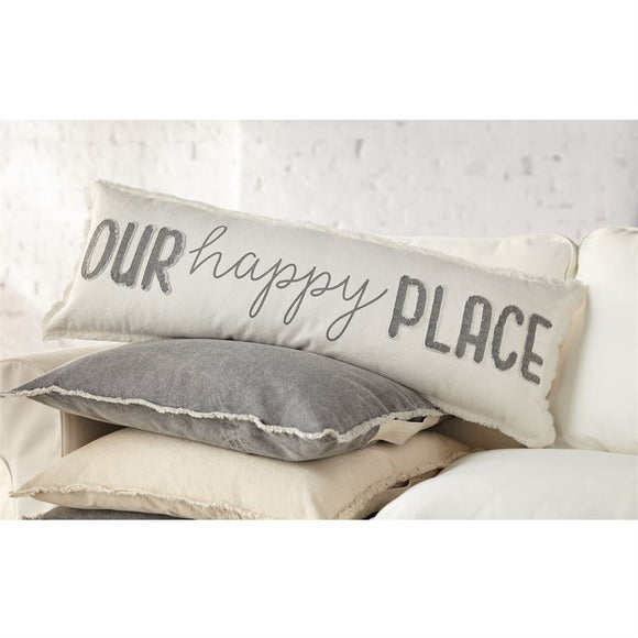Our Happy Long Pillow : Mud Pie Home