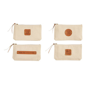 Mudpie : Beauty Canvas Pouch