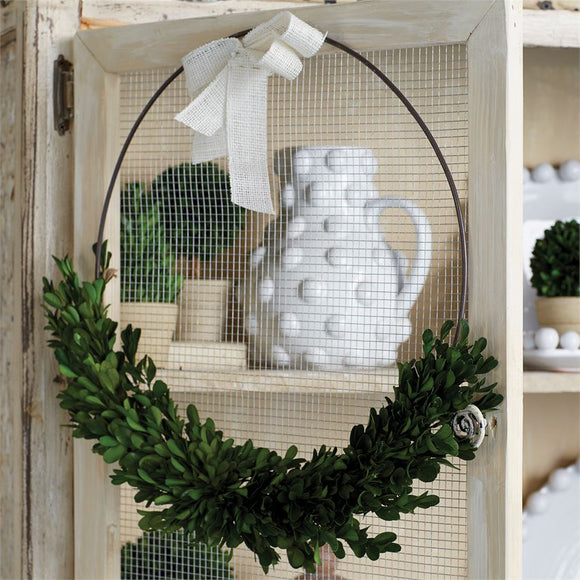 Mudpie : Boxwood Ring Wreath