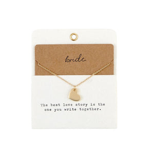 Mudpie : Bride Charm Necklace