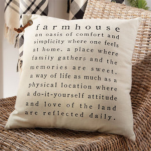 Mudpie : Farmhouse Definition Pillow