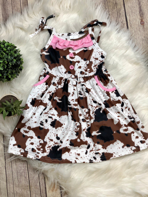 Callie Cow Print Dress