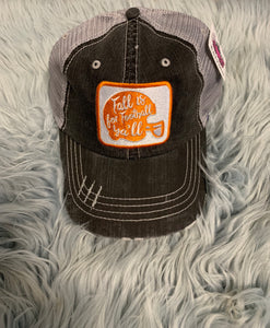 Trucker Hat : Fall is for Football Ya'll (Orange)