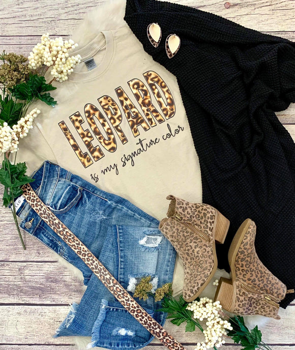 Leopard Is My Signature Color Tee