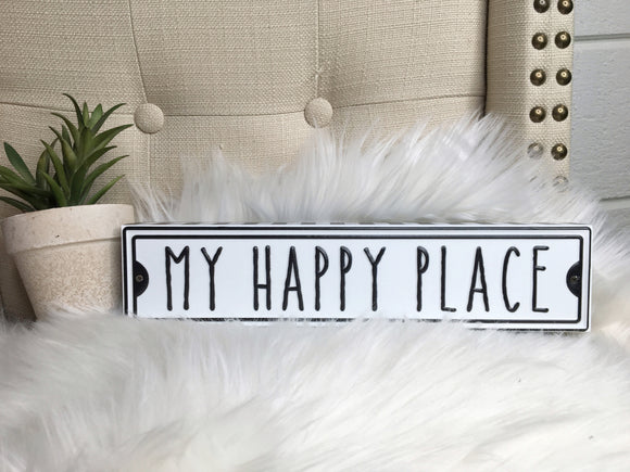 My Happy Place Street Box Sign