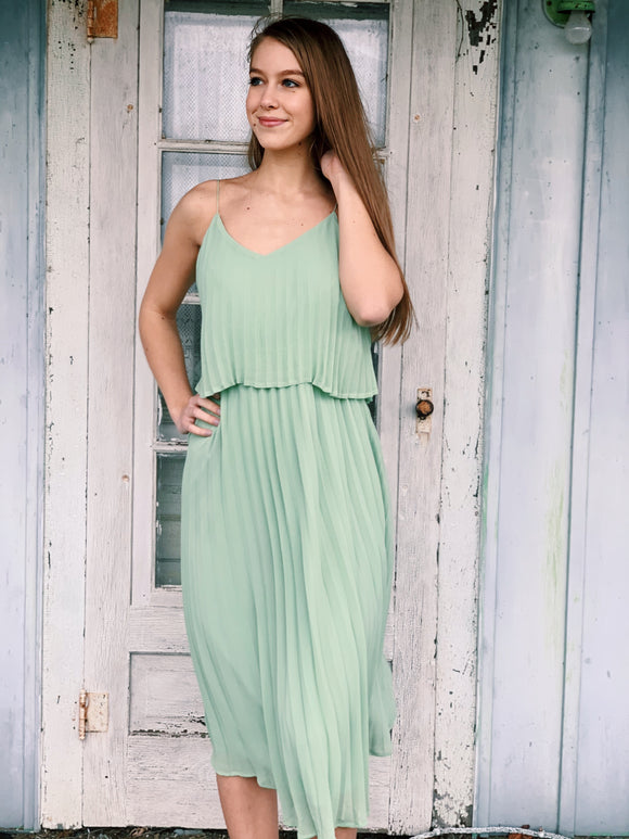Pleated Layered Midi: 3 Colors