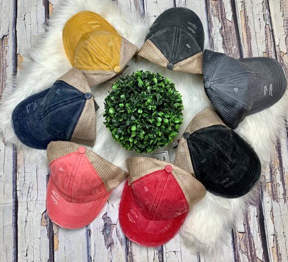 Lattice Back Hat: 8 Colors