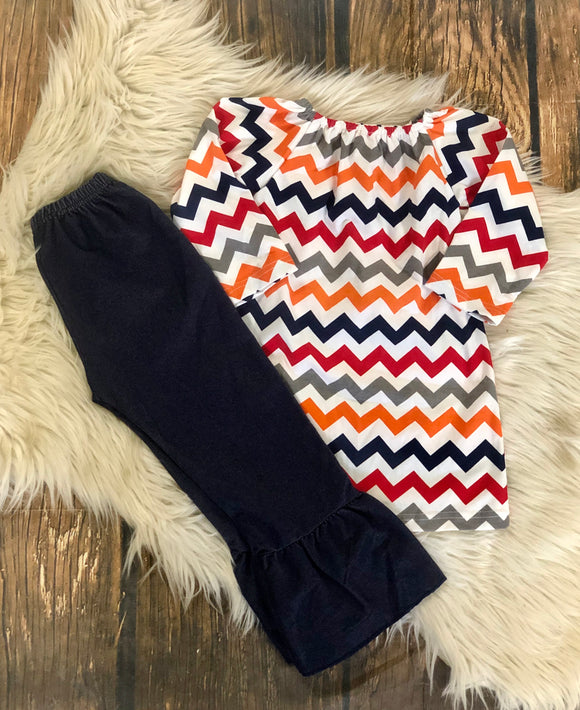 Chevron and Denim set - RE