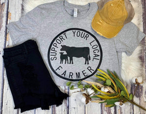 Local Farmer Cattle Tee