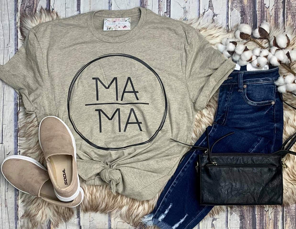 Mama Ring Tee : Heather Tan