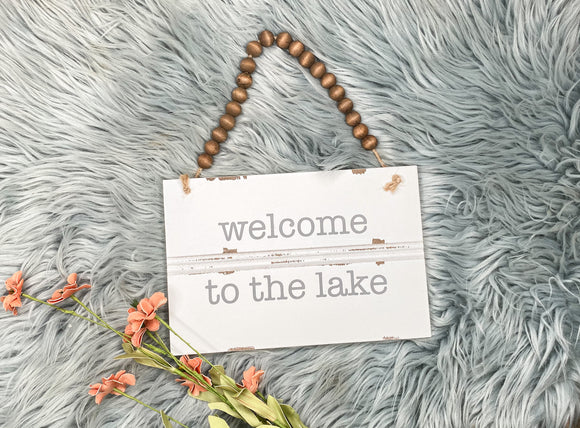 Welcome Lake Sign