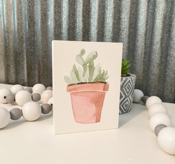 Prickly Succulent-Box Sign