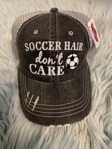 Trucker Hat : Soccer Hair Don't Care