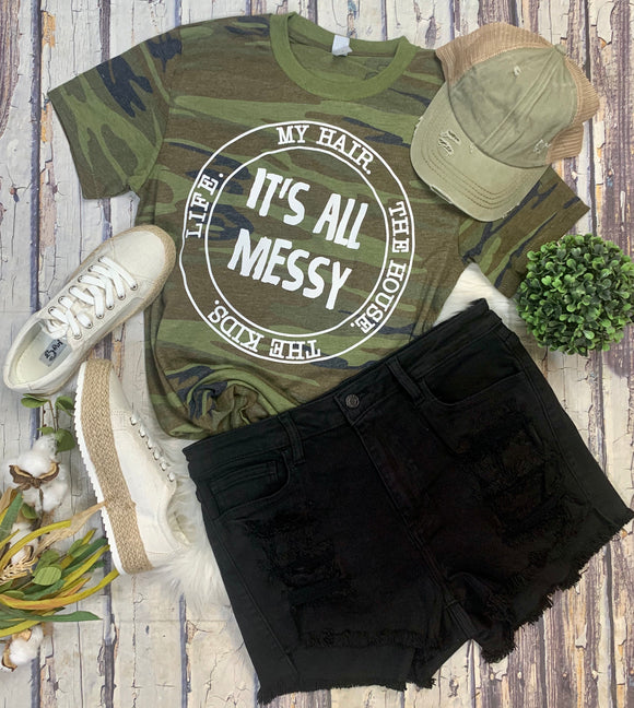 All Messy Camo Tee