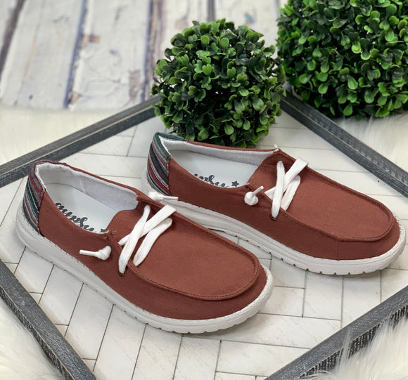 Look Alike Slip-On: Rust