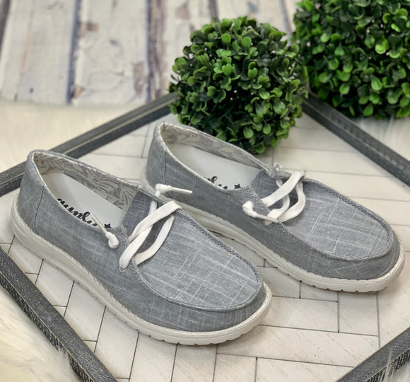 Look Alike Slip-On: Light Grey