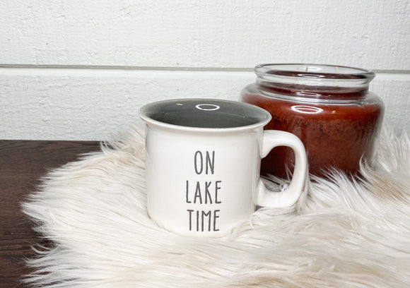 Lake Time Engraved Mug