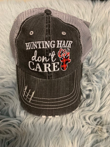 Trucker Hat : Hunting Hair Don't Care