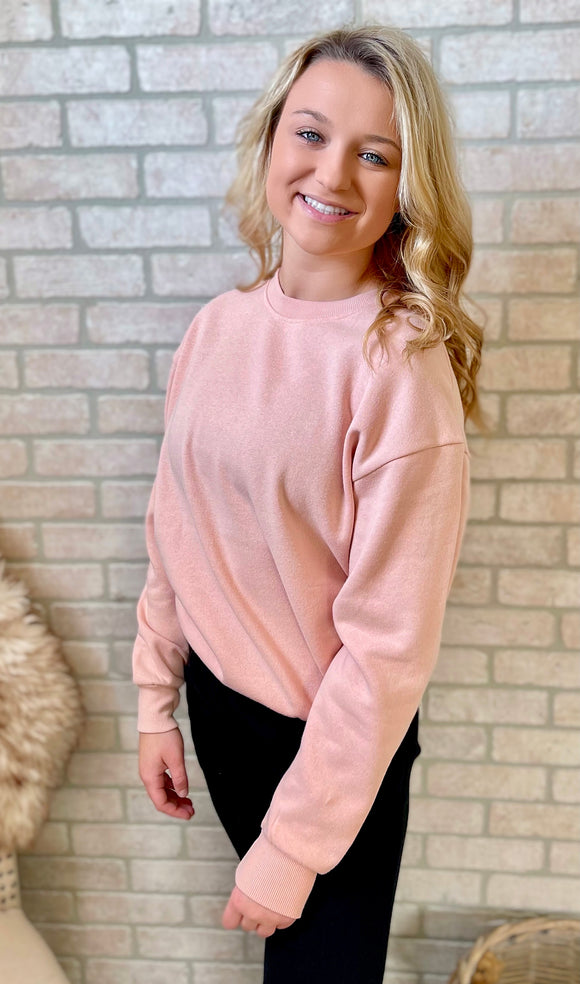 Sidekick Pullover: Blush