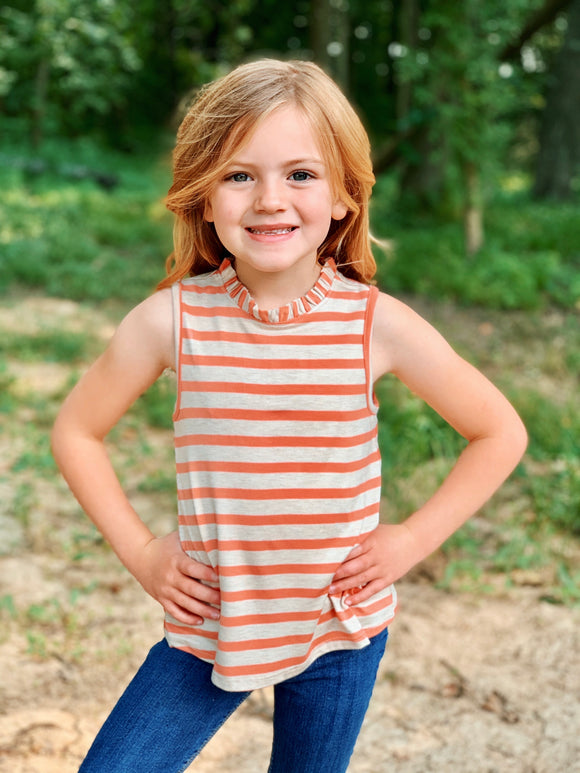 KIDS Striped High Neck Tank
