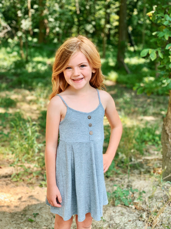 KIDS Ribbed Swing Dress