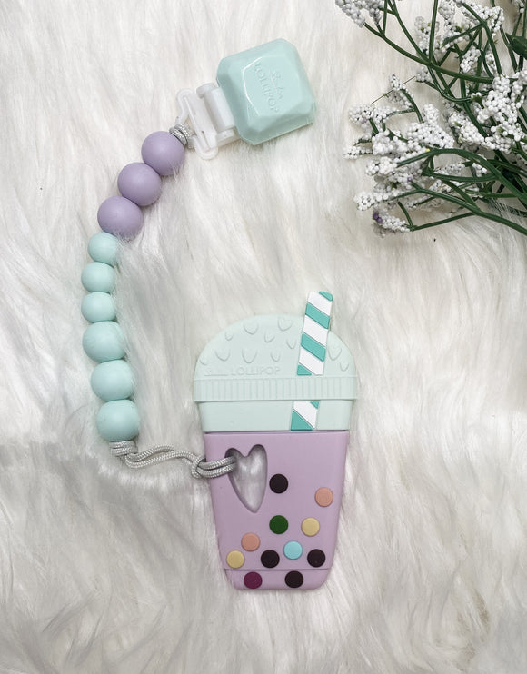 Loulou Lollipop Teether- (Purple-Coffee)