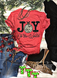 Joy To The World Tee (Red)