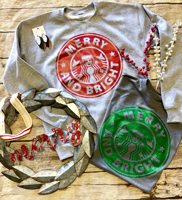 Merry & Bright Glitter Tees