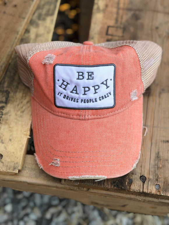 Be Happy Trucker Hat