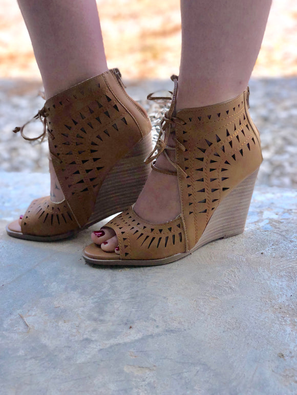 Celine Lace Up Wedge