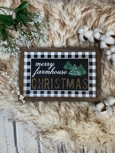 Merry Farmhouse 3D Framed Sign