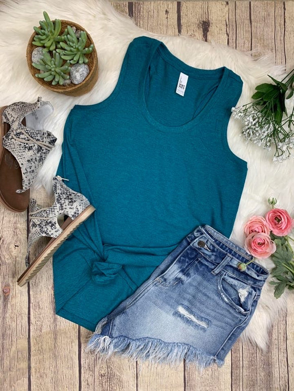 Summer Tank : Heather Teal