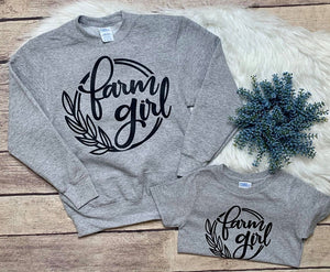 Farm Girl Tee & Crew - Infant through adult