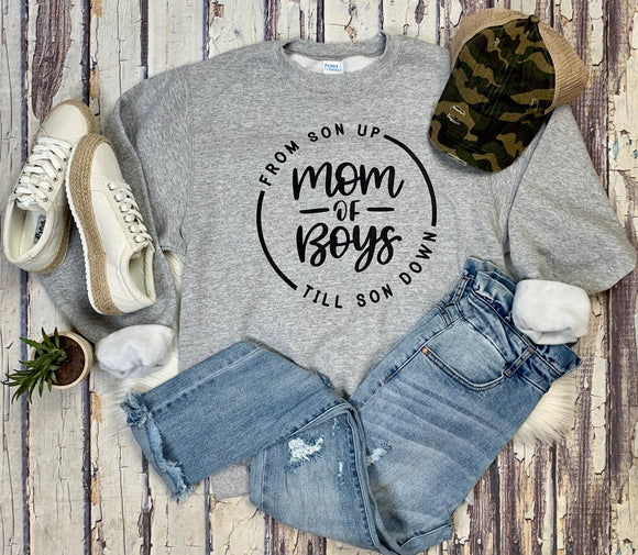 Mom of Boys Crewneck