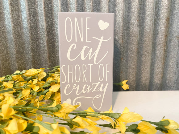 One Cat Short-Box Sign