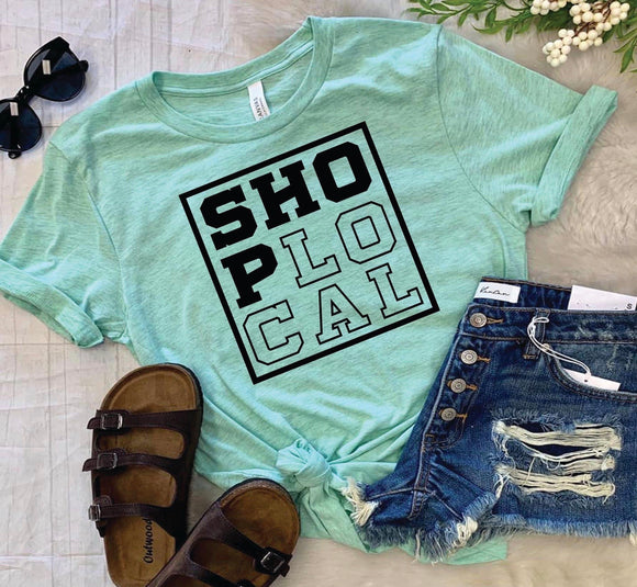 Shop Local Tee : Mint