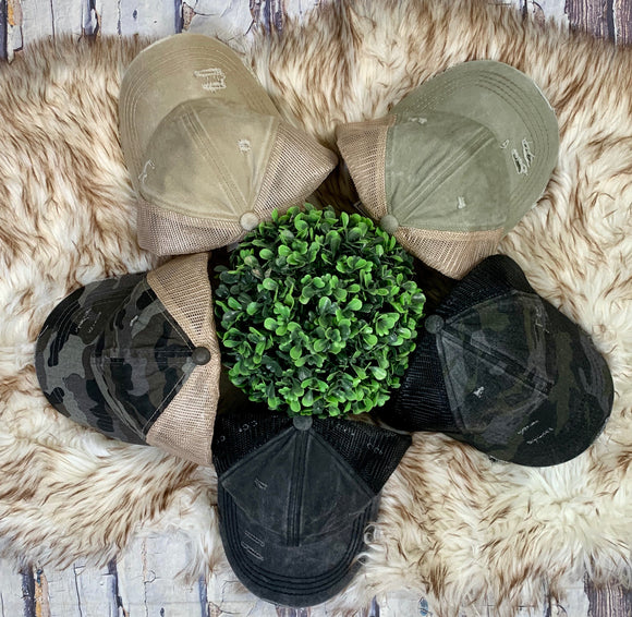 Lattice Back Hats: 5 Colors