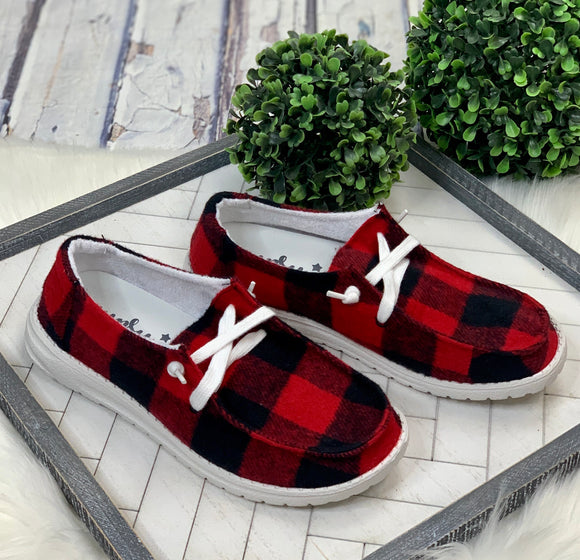 Look Alike Slip-On: Buffalo Plaid