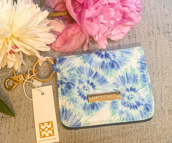 Mary Square ID Wallet- Blue Rush