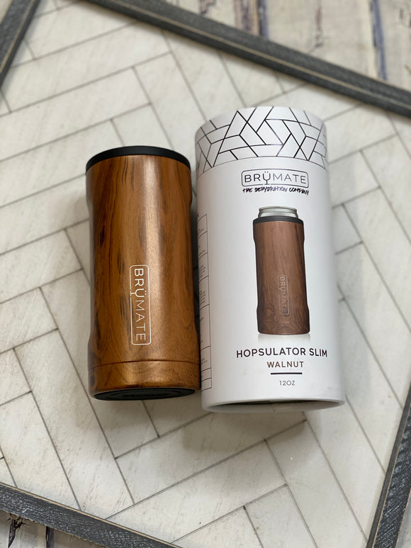 BrüMate: 12oz Slim Can- Walnut