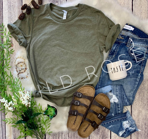 Essential T-shirt : Heather Olive