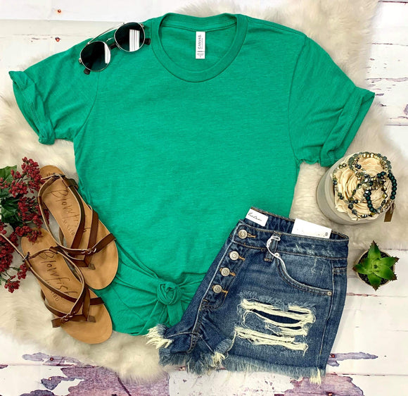 Essential T-shirt : Heather Kelly Green