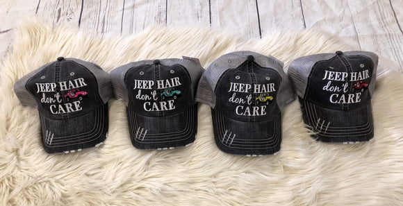 Trucker Hat : Jeep Hair Don't Care