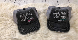 Trucker Hat : High Tides & Good Vibes
