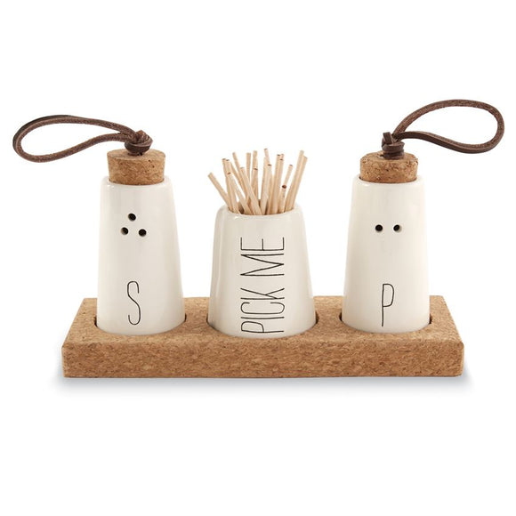 Mudpie : Salt Pepper Toothpick Holder