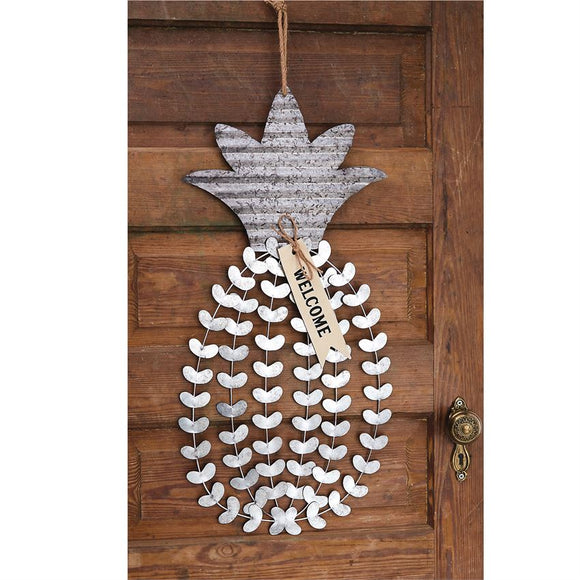 Mudpie : Pineapple Tin Door Hanger