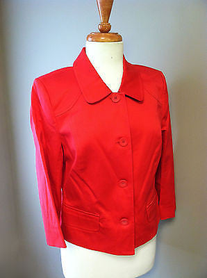 BCBG Paris Women's 3/4 Sleeve Red Blazer Suit Dress Jacket Size 10 $188